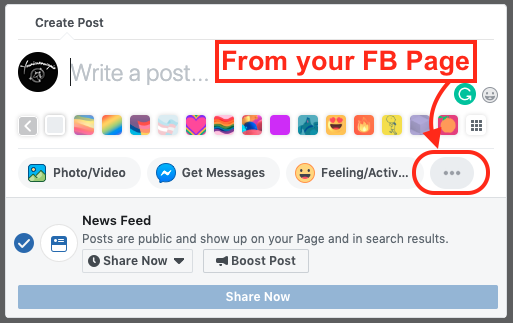 facebook watch partyfrom page